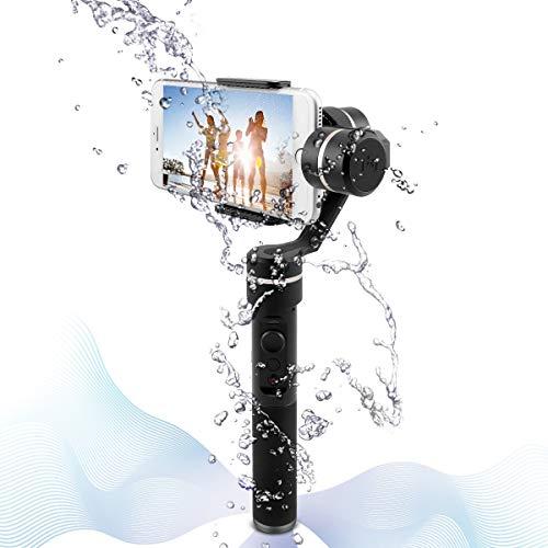 Feiyu SPG 3 Ejes Estabilizador de Cámara Gimbal de Aluminio CNC para Smartphone, iPhone,Cámara Deportiva y Todas Las Videocámaras GoPro