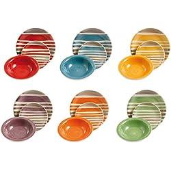 Satur Vajilla 18 Piezas Multicolor