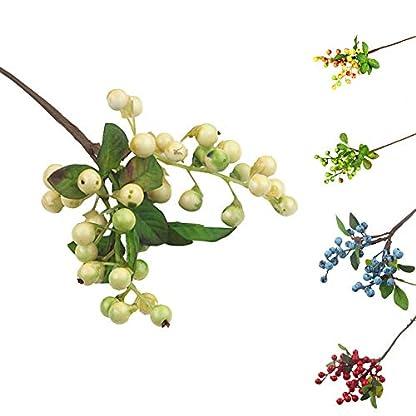 NewPointer – Planta Artificial de Acacia para simulación de Flores Artificiales, Accesorios para arreglos de Flores y Bayas pequeñas, 1 Unidad