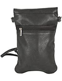 Tamirha Simple Yet Stylish Black Mobile Pouch Sling Bag