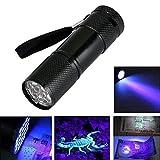 Zimo® 9 LED UV Mini Taschenlampe Ultraviolett Schwarzlicht UV-Strahler Handlampe (1)