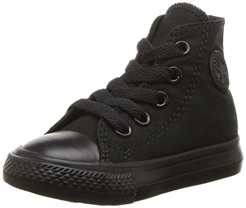 Converse - Säugling Chuck Taylor All Star Hallo Schuhe, EUR: 24, Black Monochrome (Schuhe High Top Säuglinge)