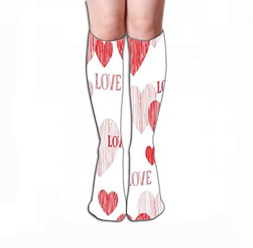 Xunulyn Hohe Socken Socks Women Luxury Cotton Colorful Cool Fun Socks 19.7