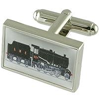 Collegamenti del bracciale treno a vapore ferrovia gemelli + fatto a mano custodia nera