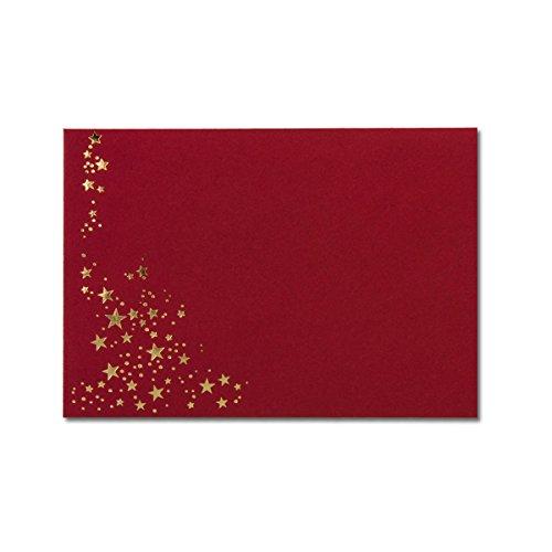 ot | 50 Stück | hochwertige Kuverts in DIN B6 Format mit Folien-Sternen & Nassklebung | formstabile Post-Umschläge für Weihnachten & festliche Anlässe | ohne Fenster (Halloween-brief Für Die Eltern)