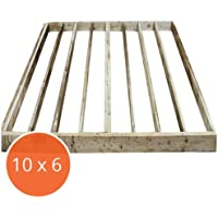 10x6 Pressure Treated Wooden Portabase DIY Shed Base Kit, Playhouse, Summerhouse, Timber Frame, 10ft x 6ft, Free 3-5 Day Delivery + 15 Year Anti rot guarantee From Waltons