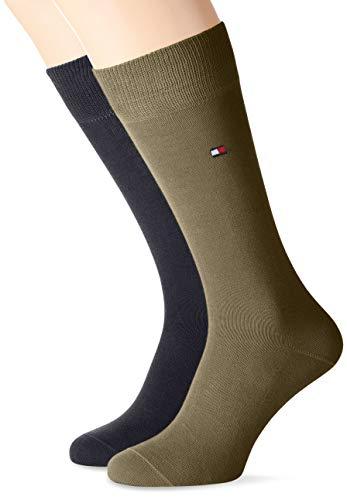 Tommy Hilfiger Herren Socken Th Men Classic 2er Pack, BLICKDICHT, Mehrfarbig (Dark Olive 150), Gr. 39/42