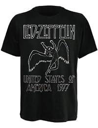 T-Shirt Led Zeppelin Noir USA 77 S (T-Shirt taille Small)