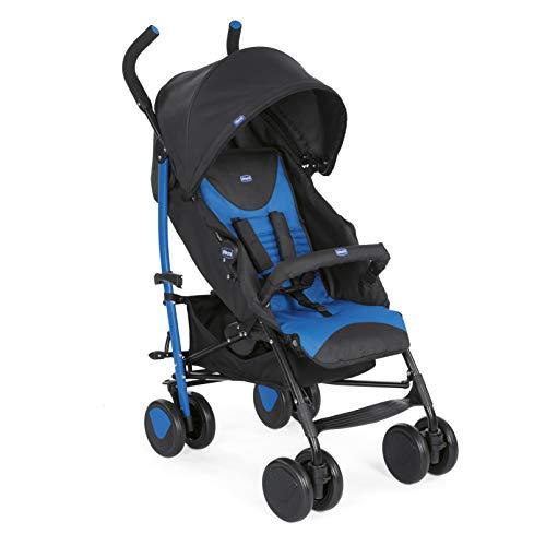Chicco Echo  Silla de paseo, ligera y compacta, soporta hasta 22kg, color azul