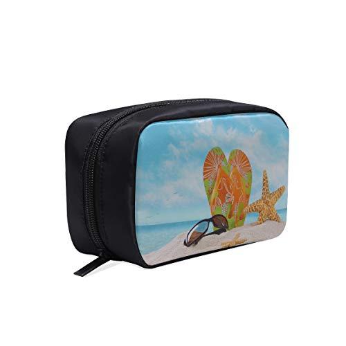 Kleine Glas-slipper (Strand Flip Flops In Regenbogen Farbe Tragbare Reise Make-Up Kosmetiktaschen Organizer Multifunktions Fall Kleine Kulturbeutel Für Frauen Und Männer Pinsel Fall)