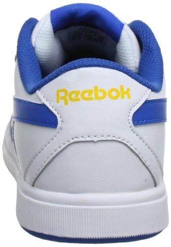 Reebok CL SOLID COURT, Low-top mixte enfant Blanc - Weiß (WHITE/VISTA BLUE/YELLOW-LTHR)