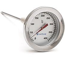 Termómetro de 400 ° c grados de acero inoxidable tubo gas. termómetro de gas de combustión / hornilla / calentador con el cono de latón. analógico y