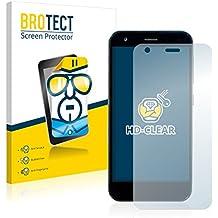 2x BROTECT Protector Pantalla ZTE Blade S6 Flex Película Protectora – Transparente, Anti-Huellas