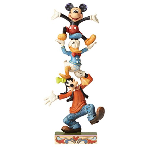 Disney Tradition 4055412 Figur Teetering Tower, Goofy, Donald Duck & Mickey Mouse, Harz, mehrfarbig,  10 x 6 x 22 cm