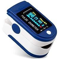 Pulsiossimetro da dito,sensore digitale di ossigeno nel sangue e pulsazioni, con allarme SPO2, per uso domestico…