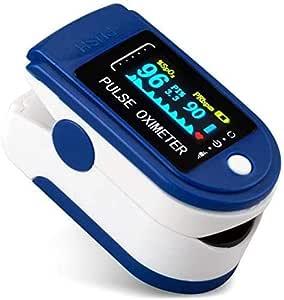 Goeco Pulsiossimetro da Dito,sensore Digitale di Ossigeno nel Sangue e pulsazioni, con Allarme SPO2, per Uso Domestico, Fitness e Sport estrem