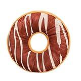 serliy Weiches Plüsch Kissen Gefüllte Sitzauflage Süße Donut Kissenbezug Fall Spielzeug Kissenbezug Bettwäsche aus Baumwolle dekorativer Satin-Wurfs-Sofa-Kissen-Kasten Polsterung