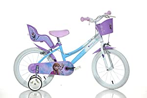 FROZEN 16 inch Original Dino-Bikes dolly basket training wheels by Dino