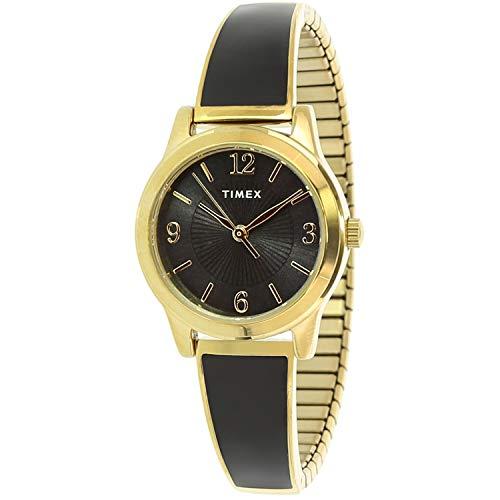Timex Women's Stretch Bangle TW2R92900 Gold Stainless-Steel Analog Quartz Dress Watch