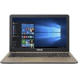 "ASUS F540SA-XX068T - Portátil de 15.6"" (Intel Celeron N3050, disco duro de 500 GB, 4 GB de RAM, tarjeta grafica integrada), color chocolate negro - teclado QWERTY español"
