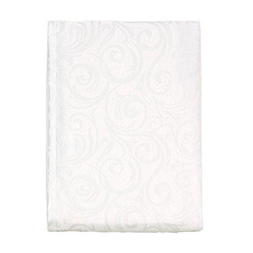 Nappe de luxe blanche - Traitement anti taches - Grande tailles - Ref. Lyon, blanc, 59 x 137\