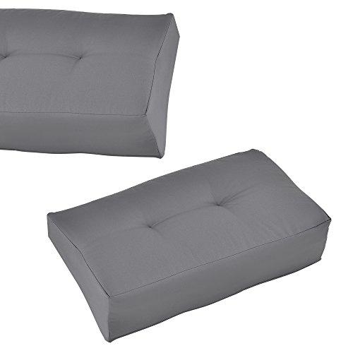 [en.casa] 1x cuscino angolare per divano palette euro [grigio chiaro] cuscino per palette per fuori e dentro