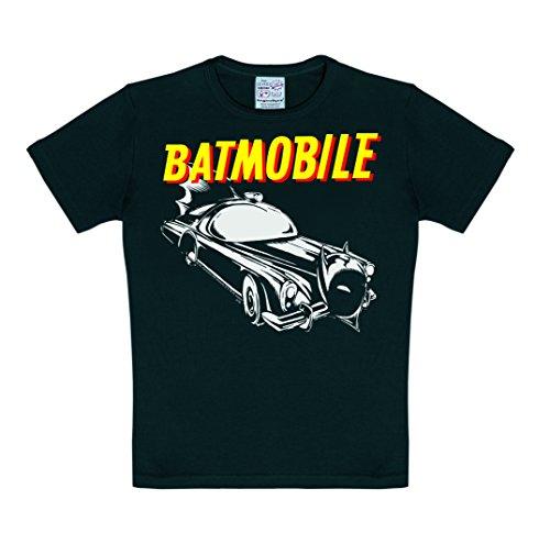 Logoshirt DC Comics - Batman - Batmobile T-Shirt Kinder Jungen - Schwarz - Lizenziertes Originaldesign, Größe 92/98, 2-3 Jahre