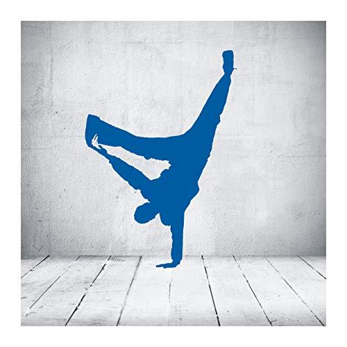 """das-label Wandtattoo Tanzen """"streetdance 14"""" in 4 Größen Hip Hop Breakdance Kinderzimmer Tattoo, Indoor mittelblau/Größe M"""