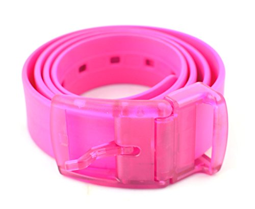 Neon Silikon-Gürtel, Unisex, 10 Farben (Rosa)