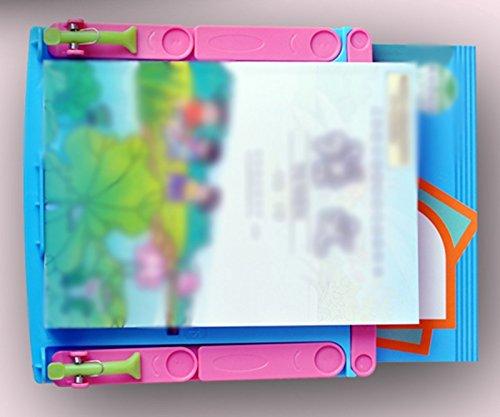 Estantería de Lectura Estantería de Lectura Soporte de Libro Creativo 20 * 20 * 16 Cm Libro por Bookend Libro Bloque Student Telescopic Book Stent Marco de Lectura Rosa ( Color : Pink )