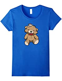 Very Cute Brown Teddy Bear With A Hat T Shirt Girls Boys