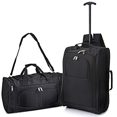 5 Cities Hand Luggage Cabin Bundle Sets, Trolley Bags, Holdall Duffle Bag and Travel Trolley Backpack 2 & 3 Piece Sets for Easyjet/Ryanair!