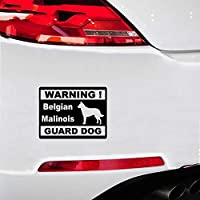 Car Magnets Stickers 13.5Cmx10.3Cm Car Styling Personality Warning Belgian Malinois Guard Dog Car Stickers for Car Laptop Window Sticker