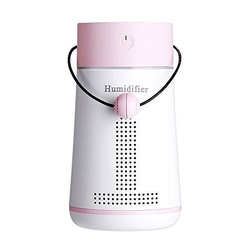 Flüsterleise Mini Luftbefeuchter Diffusor,Multifunktions-Nachtlicht-Luftbefeuchter mit kleinem Ventilator und stummgeschalteter Luftbefeuchtung im Kosmetikspiegel,für Babys,Die Ganze Nacht Hindurch