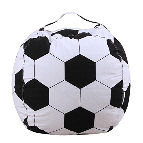 gaddrt Tasche Kinder Stofftier Plüsch Fußball Spielzeug Lagerung Sitzsack Soft Pouch Streifen...