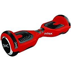 NILOX Hoverboard Doc UL 2272, 6,5 pouces, Smart Scooter, Gyropode Électrique Skateboard Auto-équilibrage, 360 W, Vitesse maximale 10 km/h, Noir Rouge