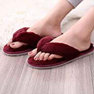 Pink Fluffy Slippers Women, Fur Slides Winter Flip Flops Warm Comfortable Fluffy Furry Slippers Lady House Sof
