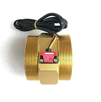"SunRobotics 3/4"" Hall Effect Liquid Water Flow Sensor Switch Brass Flowmeter Fluid Meter 2-45L/min"