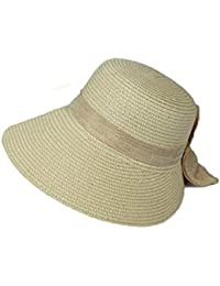 Sombrero De Paja Señoras Sombrero para El Sol Rayas Warme De Colores  Sombrero De Pesca Flexible Verano De ala Ancha Protector Solar… 039bce13bec