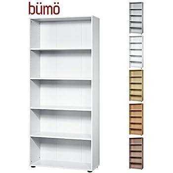 Weisses Bücherregal standregal bücherregal weiß typ 73012 03 wandregal