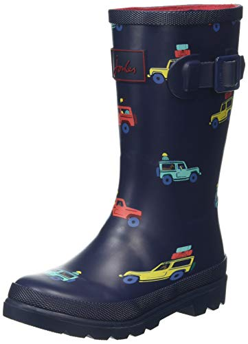 Tom Joules Boys' Jnrboyswly Wellington Boots, Blue (Navy Scout & About), Child Uk 8 (Eu 25 12)