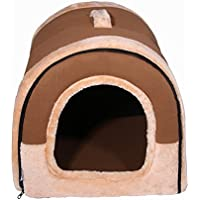 Moliies Pet House Brown Dog Bed Mascotas Gatos Sofá Cojín Suave Lavable Cómoda Dormir Perrera para Pequeño Tamaño Mediano Pet Supplies