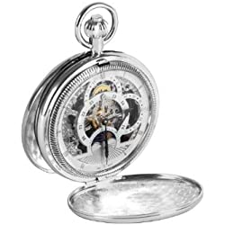 Woodford Men's Mechanical Pocket Watch with White Dial Analogue Display 1083