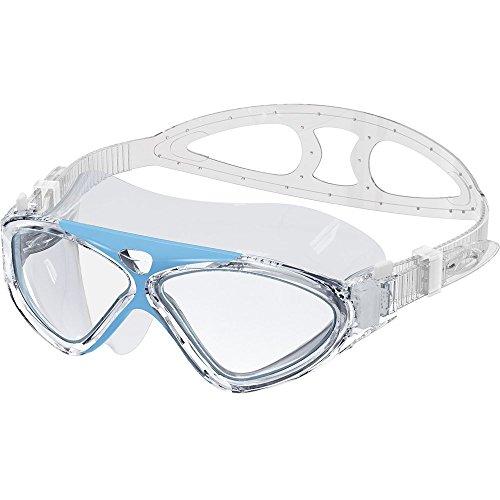 Schwimmbrille Erwachsene Schwimmen Brillen Professional Anti Nebel kein Auslaufen UV-Schutz einfach zu verstellen Schwimmbrille für Damen und Herren, (hellblau)