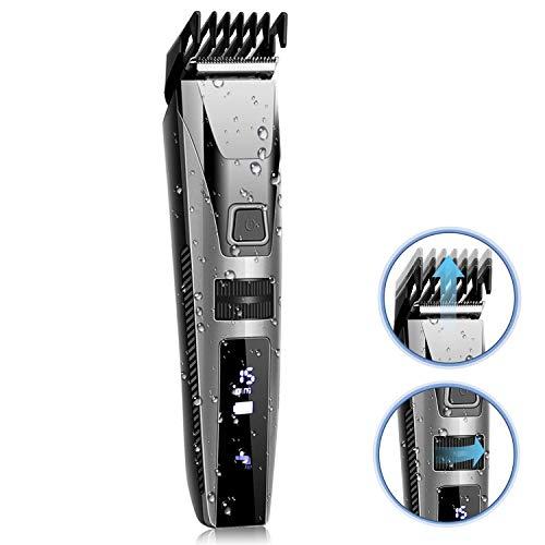 Haarschneider Herren Haarschneidemaschine(9 Längen) Elektrischer Bartschneider Profi Haartrimmer waschbar für Männer und Kinder KYG MEHRWEG