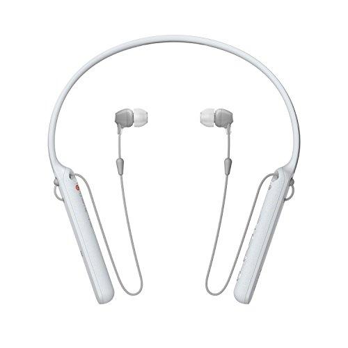 Sony WI-C400 Kabelloser In-Ohr Kopfhörer, Neckband Design (Bluetooth, NFC, Headset-Funktion, bis zu 20 Stunden Akkulaufzeit) Weiß