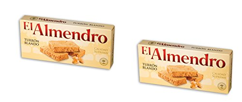 El Almendro -Turron Blando – Das Packet enthält 2 Nougat mit gerösteten...