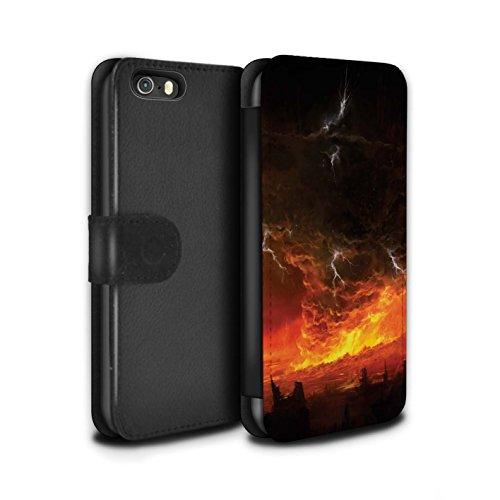 Offiziell Chris Cold PU-Leder Hülle/Case/Tasche/Cover für Apple iPhone 5/5S / Schiffswrack Muster / Gefallene Erde Kollektion Apokalypse