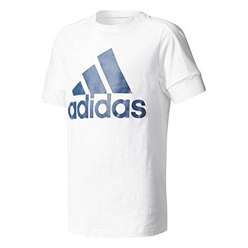 adidas Jungen ID T-Shirt, White/Blue Night, 176 Preisvergleich