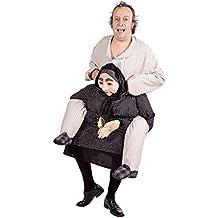 Nines d'Onil Export - Disfraz de abuelo quejica para adultos, color negro, beige y blanco (D8976)